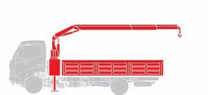 Бортовая платформа + КМУ Hino Шасси GD 12,0 тонн