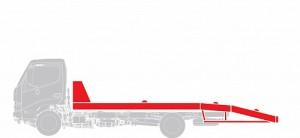 Эвакуатор (ломаная платформа) Hino  GD 12,0 тонн