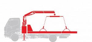 Эвакуатор с КМУ Hino  GD 12,0 тонн