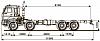 Шасси KАМАZ  6560-43