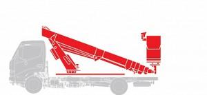Автогидроподъемник Hino  GD 12,0 тонн