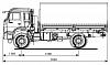 Схематическое изображение KАМАZ 43502-45