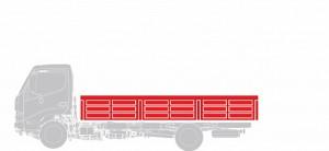 Бортовая платформа Hino Шасси XZU 7,5 тонн