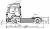 Схематическое изображение KAMAZ 5490