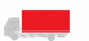 Бортовая платформа + тент Hino Шасси XZU 7,5 тонн