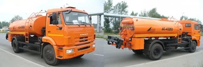 Автогудронатор ДС-43253 на шасси КАМАЗ-43253